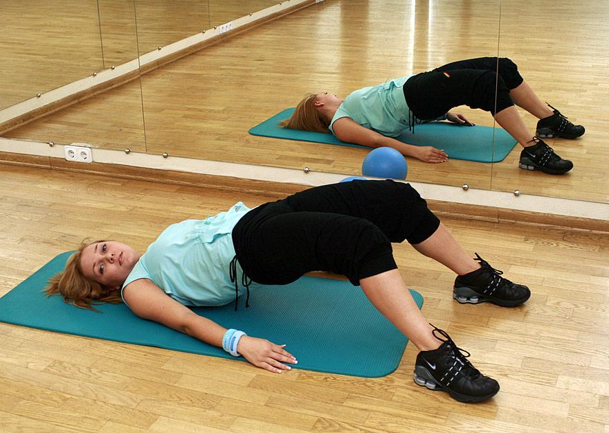 Гимнастика лежа на спине