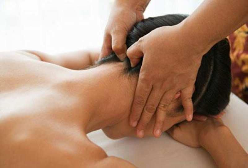 Точечный массаж шеи
