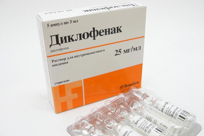 Диклофенак при остеохондрозе