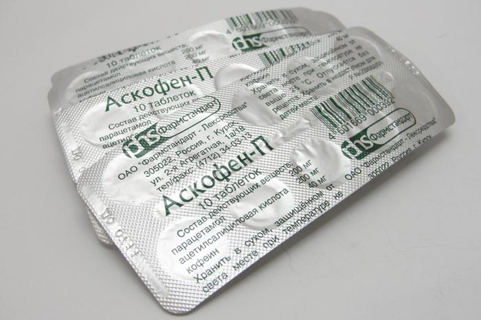 Аскофен - обезболивающее при остеохондрозе